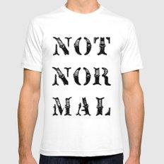 NOT NOR MAL Mens Fitted Tee White SMALL