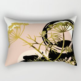 Umbellifer and abstract background Rectangular Pillow