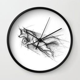 Outfoxed Wall Clock