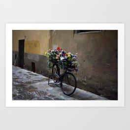Fiets. Florence. Art Print