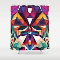 shipping Shower Curtains featuring Emotion in Motion by Anai Greog