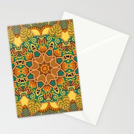 African Floral Pattern 3A Stationery Cards