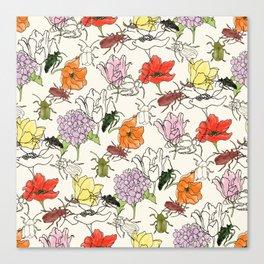 bugs -n- flowers Canvas Print