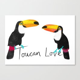 Toucan Love Canvas Print