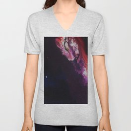 The Exotic. From my Original Painting. Abstract, Space, Blue, Jodilynpaintings Unisex V-Neck