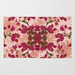 Retro Vintage Floral Motif Rug