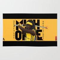 kill bill Area & Throw Rugs featuring MICHONNE - THE WALKING DEAD MASHUP KILL BILL by Akyanyme