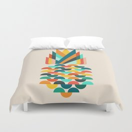 Groovy Pineapple Duvet Cover