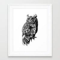 bioworkz Framed Art Prints featuring Owl 2.0 by BIOWORKZ