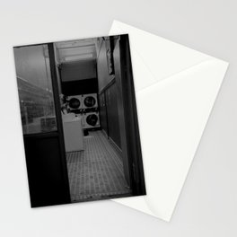 The Laundromat B&W Stationery Cards