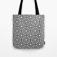 hokusai Tote Bags featuring Hokusai by Mauricio Cosío