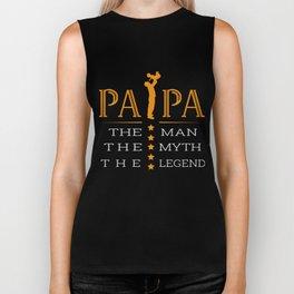Papa The Man The Myth The Legend TShirt Biker Tank