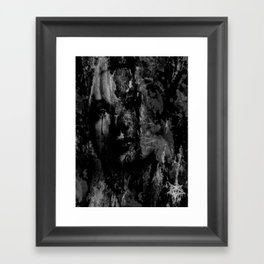 the sad woman in the tree Framed Art Print
