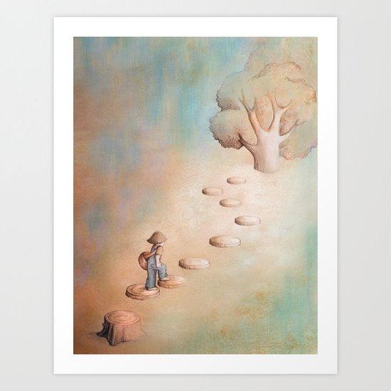 Climbing a Tree Art Print
