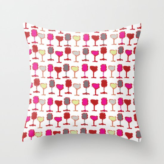 Wine Down Throw Pillow