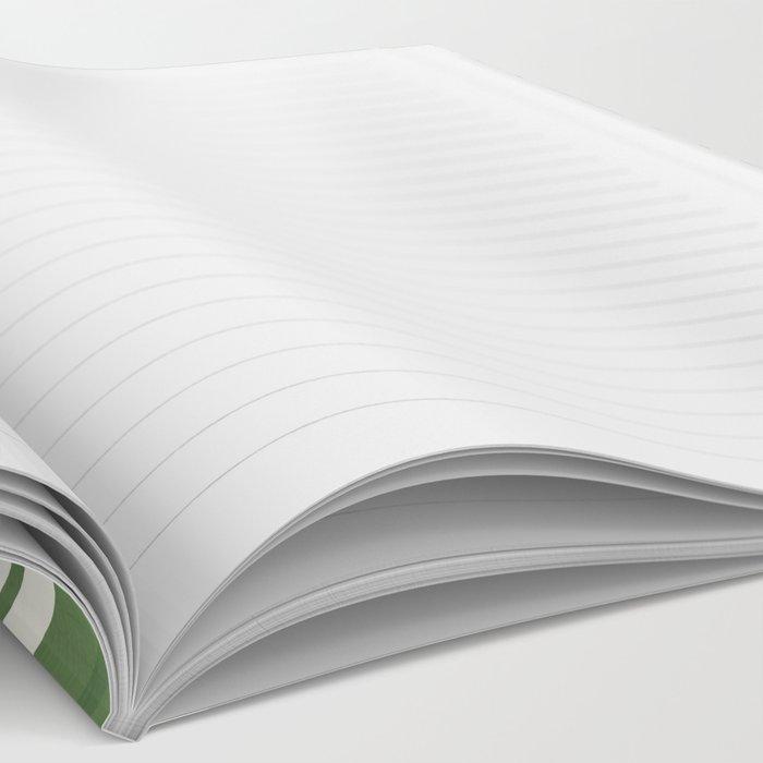 CHEVRON STRIPES - AVOCADO Notebook