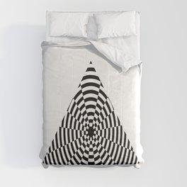 Monochrome Daze Black and White Triangle Comforters