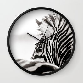 Abstract Zebra Wall Clock