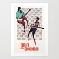 flight of the conchords Art Prints featuring We Are Robots - Flight of the Conchords by iherring