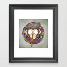 Monkey Artist Framed Art Print