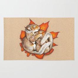 Autumn Squirrels Rug