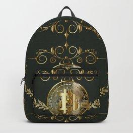 Bitcoin coin golden pattern Backpack