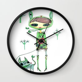 punk gree Wall Clock