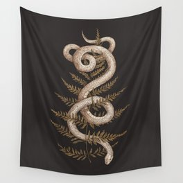 The Snake and Fern Wall Tapestry