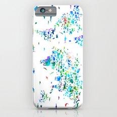 world map animals collage iPhone 6s Slim Case