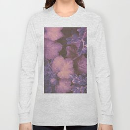 Blue Purple and Violet Autumn Leaves Long Sleeve T-shirt