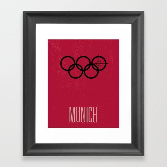 Minimal Poster - Munich Framed Art Print