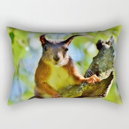 A Cute Squirrel Looking at YOU Rectangular Pillow