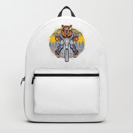 Cool Bear Motorcycle Rider on Bike for Motorcycle and Bear Lover Backpack