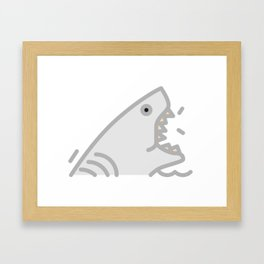 Slash The Shark Framed Art Print