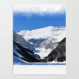 Lake Louise in Banff National Park Poster