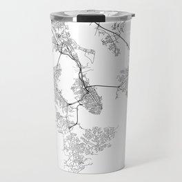 Minimal City Maps - Map Of Charleston, South Carolina, United States Travel Mug