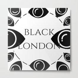 Black London Metal Print