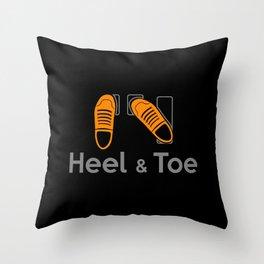 Heel & Toe Throw Pillow