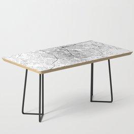 Austin White Map Coffee Table