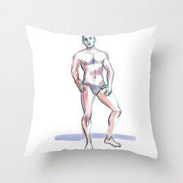JORDAN, Semi-Nude Male by Frank-Joseph Throw Pillow