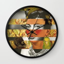 Frida Kahlo's Self Portrait with Parrot & Joan Crawford Wall Clock