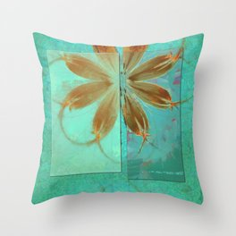 Exposure Reality Flowers  ID:16165-043834-44191 Throw Pillow