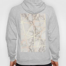 Stylish marble & copper rose gold Hoody