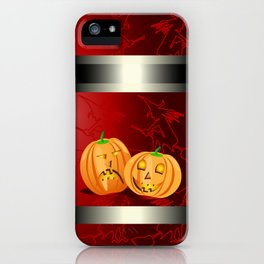 Pumpkins and spooky witches iPhone Case