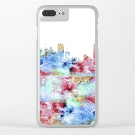 Detroit City Skyline Michigan Clear iPhone Case