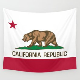 California Republic Flag - Bear Flag Wall Tapestry