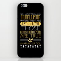 hufflepuff iPhone & iPod Skins featuring Hufflepuff by Dorothy Leigh