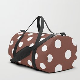 Polka Dots (White & Maroon Pattern) Duffle Bag