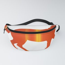 Horse - Running - Red Fanny Pack