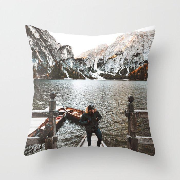man at braies Throw Pillow
